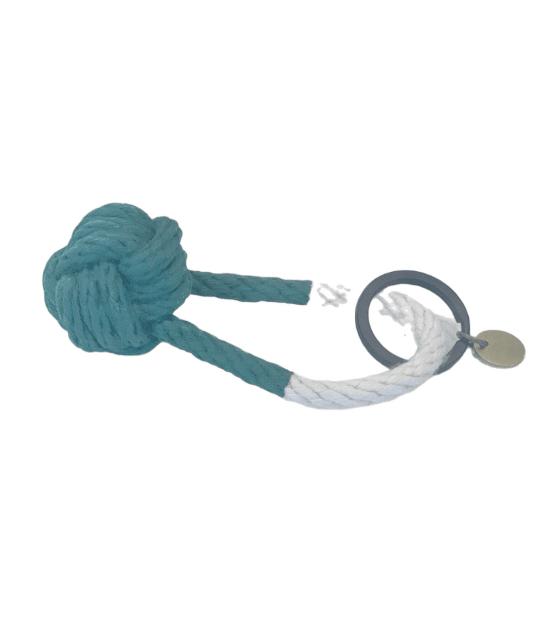 Knot Keychain Green