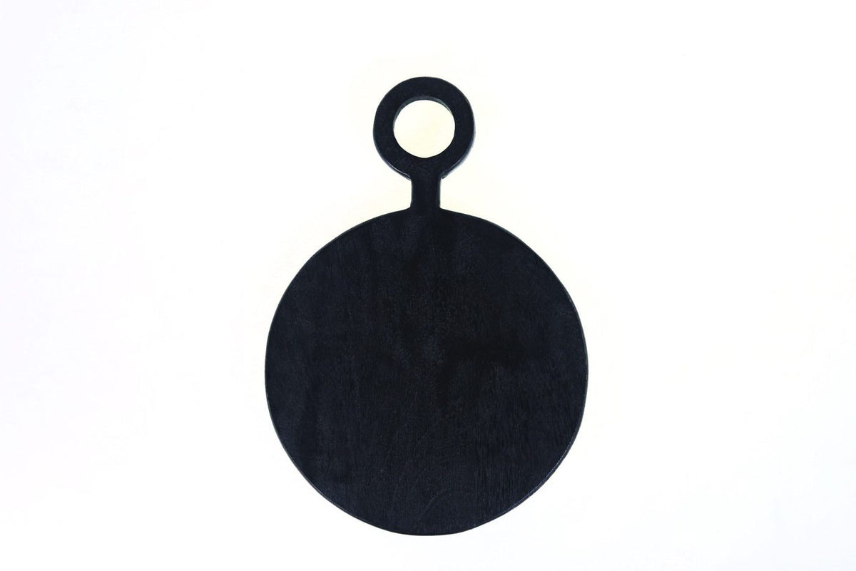 Black Wood Round Board Small