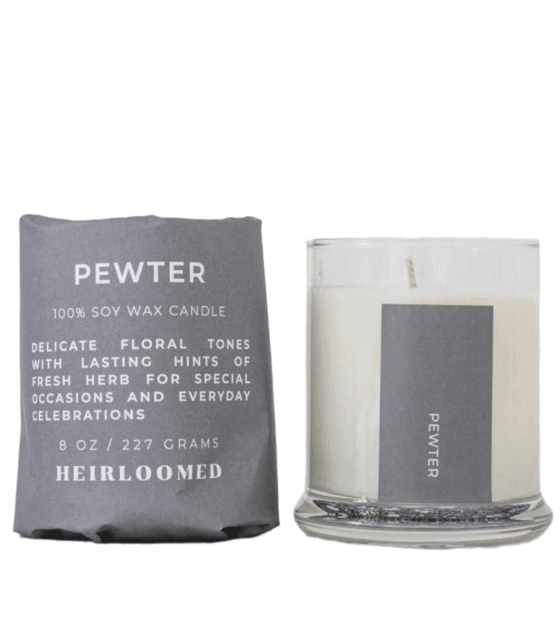 Pewter Candle