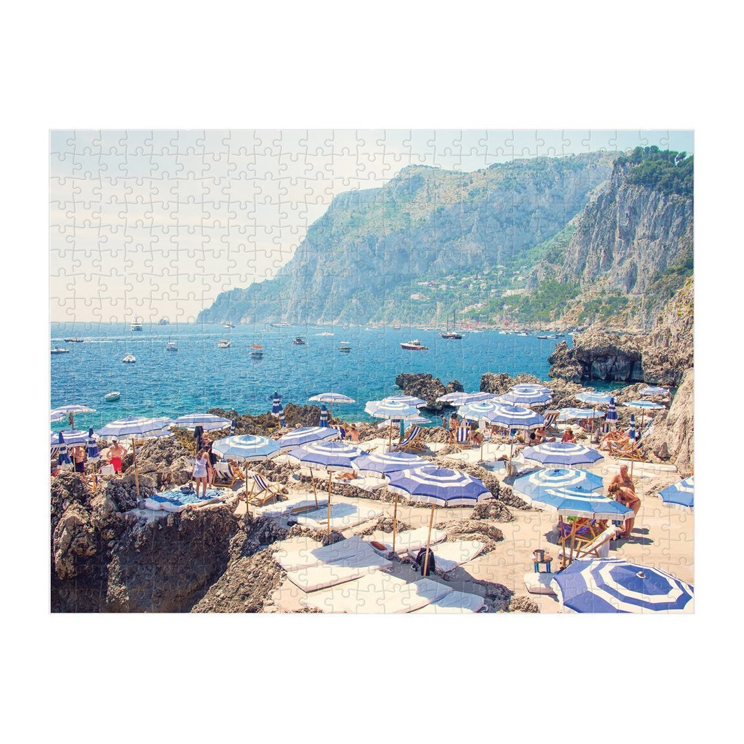 Double Sided Beach Puzzle Italy