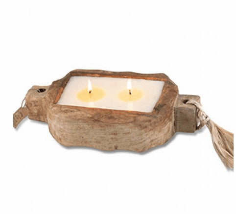 Wild Green Fig Driftwood Tray Candle