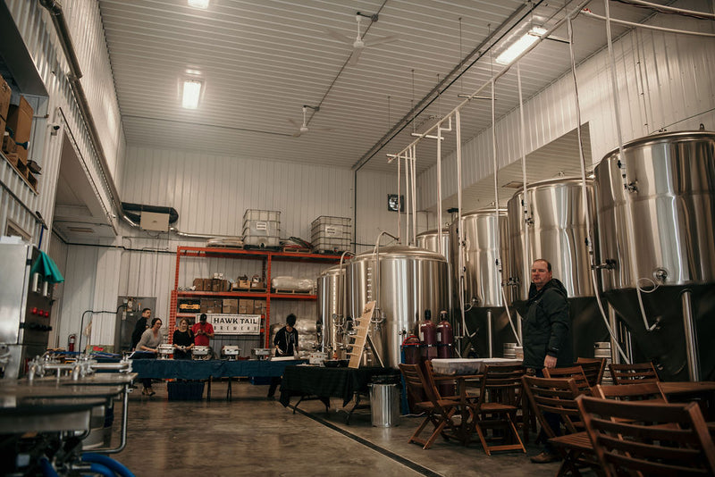 Inside the Hawk Tail Brewery