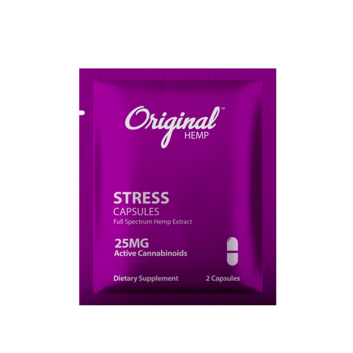 Stress Relief Capsules | Full-Spectrum Hemp Extract - Daily Dose