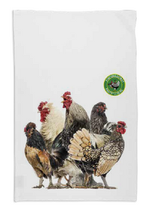 3. Chicken Group T Towel - White