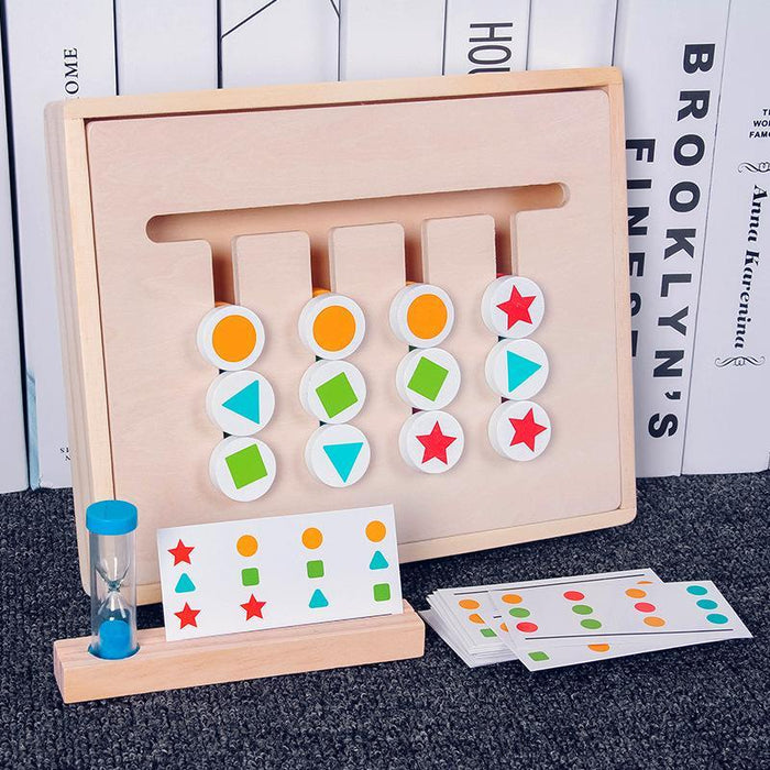 4 color puzzle game for children