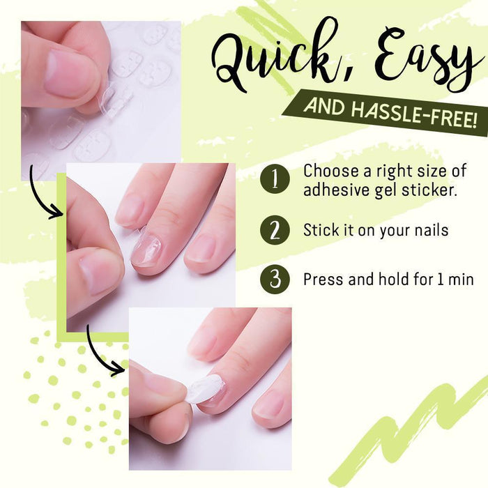 Press-On Toe Nail With Nail Gel Stickers