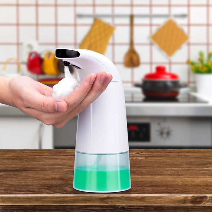 TOUCH-FREE FOAM SOAP DISPENSER