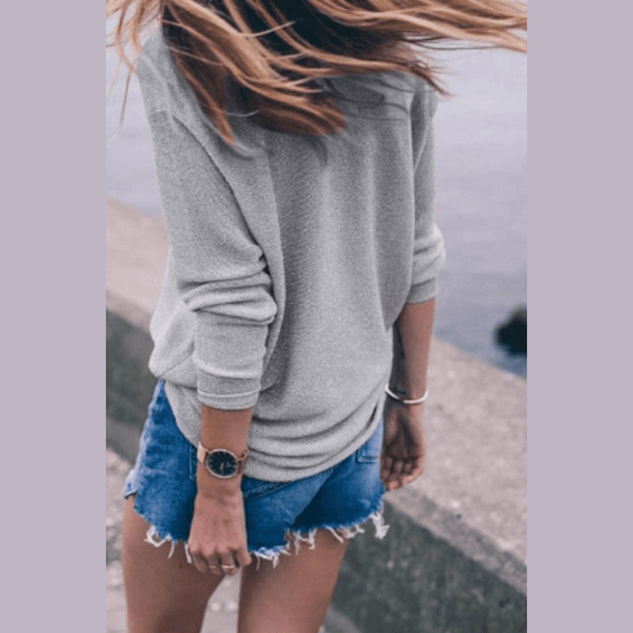 Non-Itchy Plain Loose Sweater