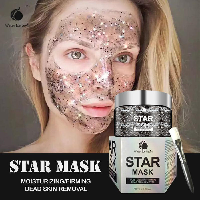 New STAR MASK Glow Job Glitter Gold Peel Off Face Mask Black Dot Blackhead Removing Facial Mask for the Face Skin Care Whitening