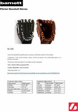 Load image into Gallery viewer, GL-120 Competition baseball glove, genuine leather, outfield 12 Black