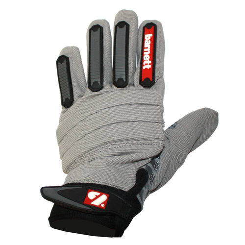 FKG-02 fit football gloves for linebackers, LB, RB, TE grey
