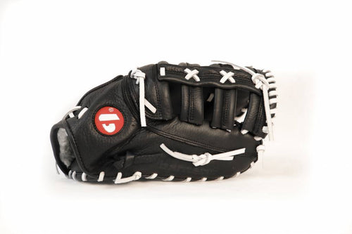 GL-301 Competition first base baseball glove, genuine leather, size 31, Black