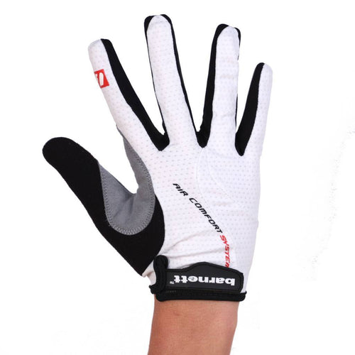 BG-01 Long bike gloves: Light, isolating, high-performance, White
