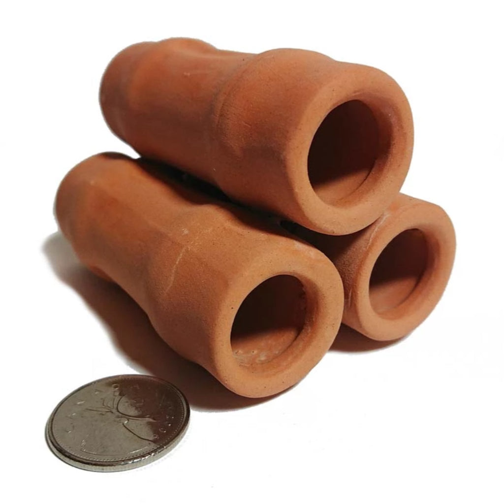 Easy Aqua Brown Ceramic Shrimp Tube (3 Hole)