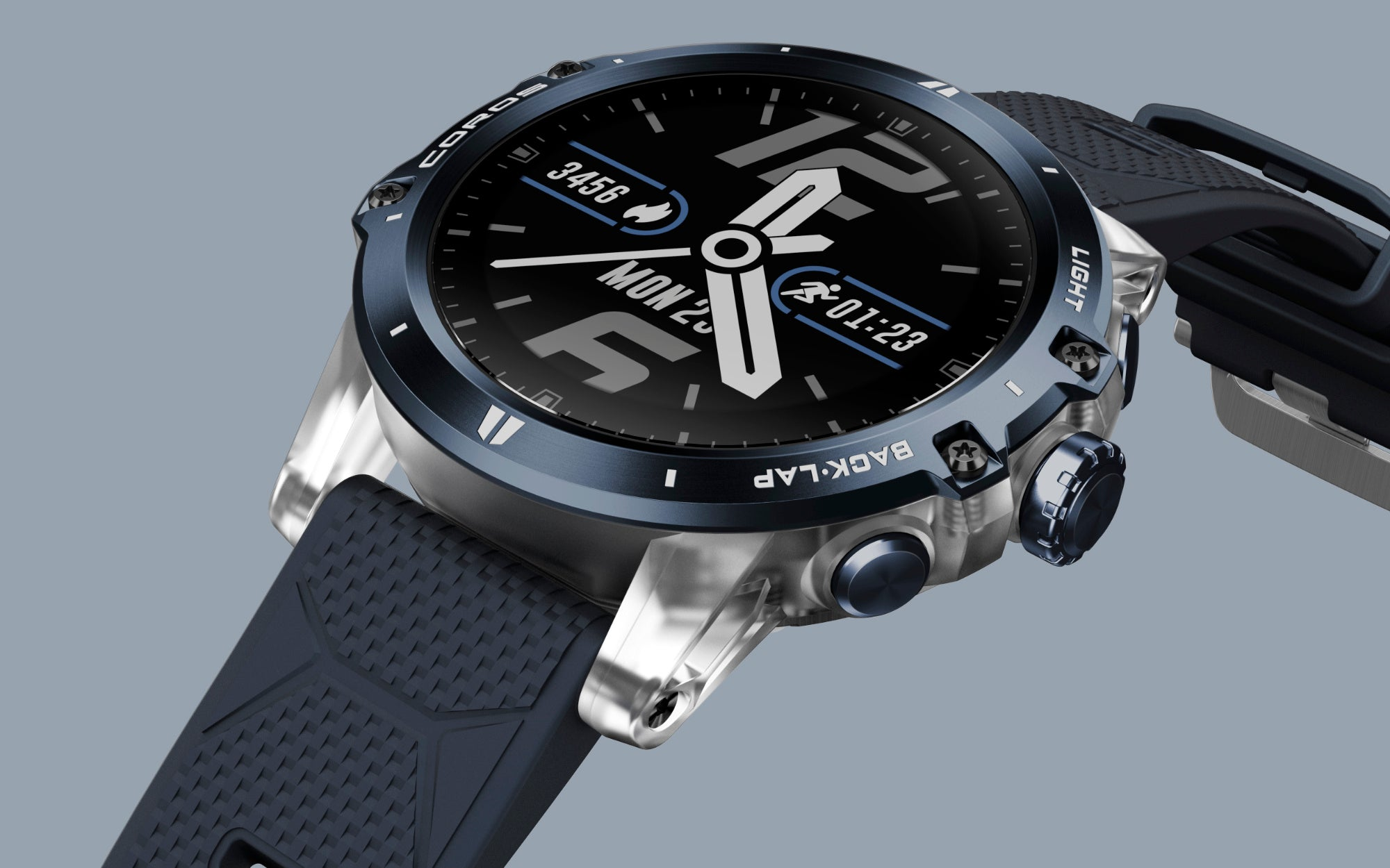COROS Vertix - Ice Breaker. The exclusive azure titanium bezel and transparent fiber case. Stand out in a crowd.