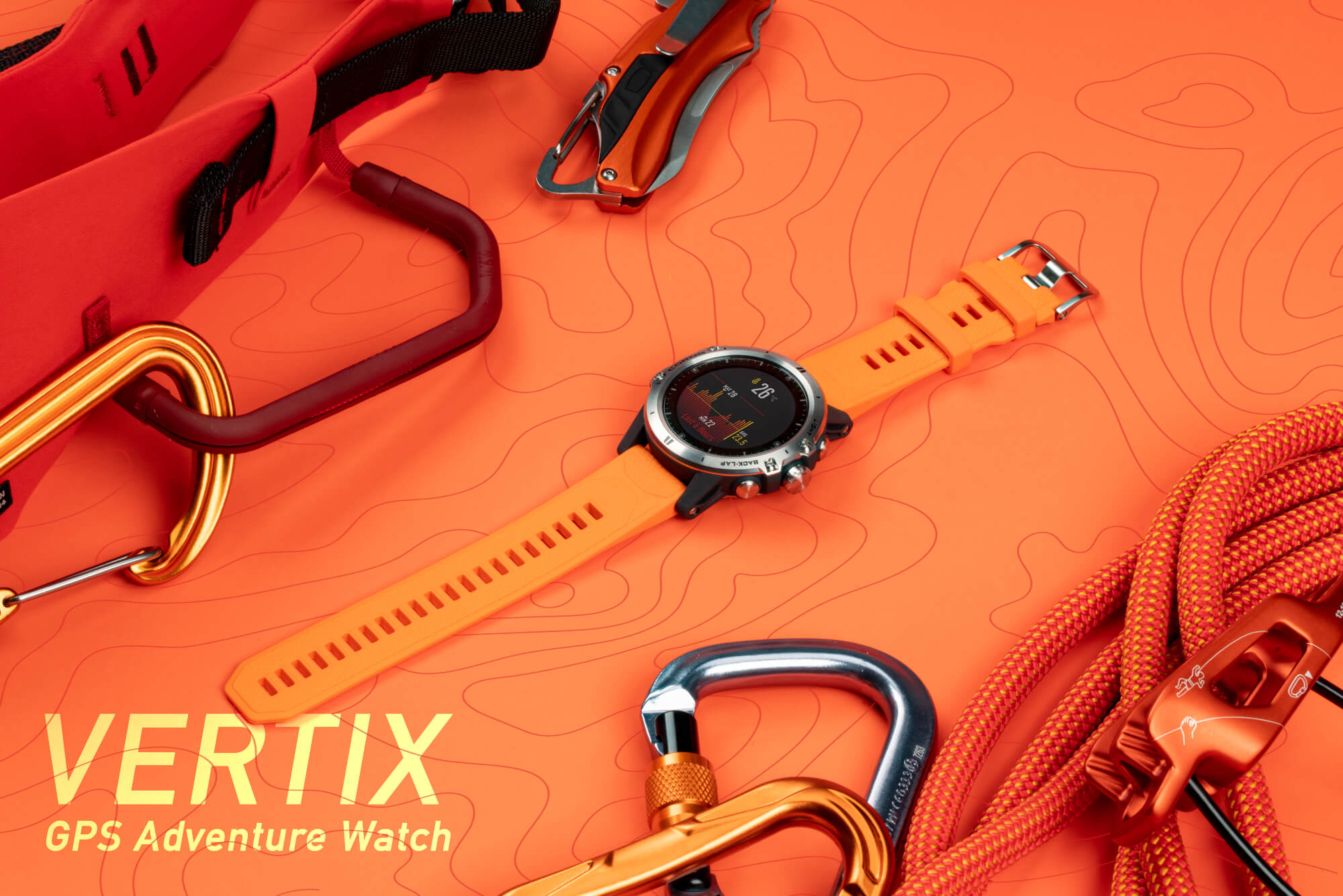 COROS Vertix - rugged YET premium. Premium and high-end materials such as titanium and sapphire. 150-meter waterprooof rating.