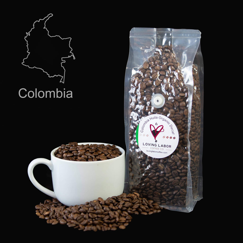 Colombia Huila Organic Decaf Loving Labor Coffee Co.