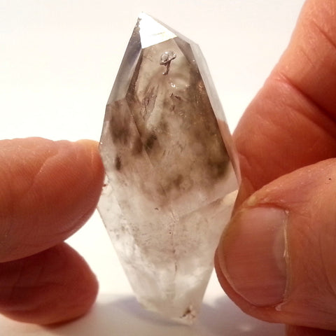 Special Form Double Terminated Smokey Floater Brandberg Quartz Crystal BRC-330