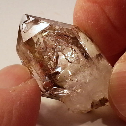 Windowed Sceptre Head Brandberg Quartz crystal