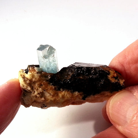 Aquamarine & Black Tourmaline in Matrix AQ-109