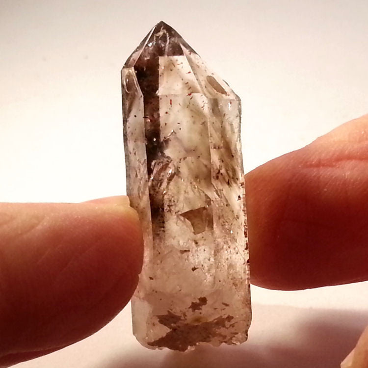 Smokey phantom enhydro Brandberg Quartz crystal