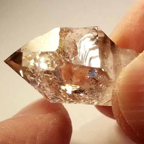 Windowed scepter Brandberg Quartz
