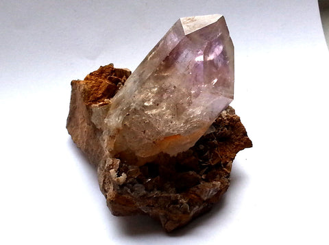 Brandberg Quartz Crystal Cabinet Specimen in Matrix with Amethysta