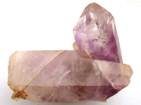 Brandberg intergrown crystal structure with subtle Amethyst