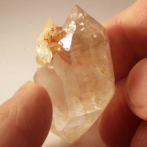 Large double-terminated Brandberg Quartz crystal
