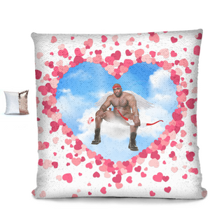 Cupid Barry Sequin Pillow