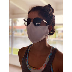 PACK OF 5- EXTRA BREATHABLE / COOLER Face Mask Triple Layer Reusable & Washable Unisex White - FASTSHIPPINGMASK.COM