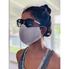 PACK OF 1- EXTRA BREATHABLE / COOLER Face Mask Triple Layer Reusable & Washable Unisex White - FASTSHIPPINGMASK.COM