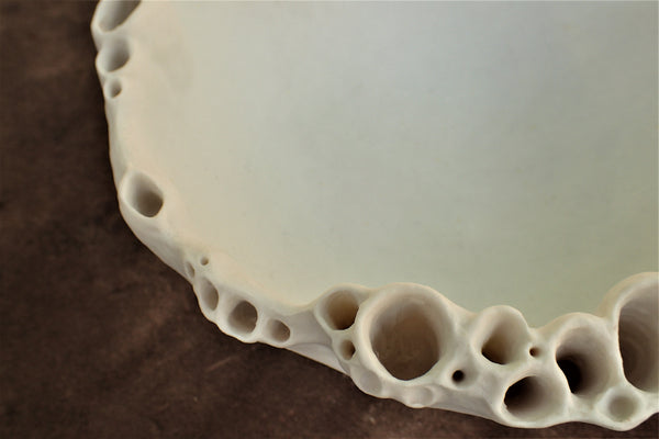 Porcelain Barnacle Bowl. Large-Ceramics-Beca Beeby