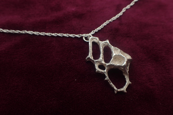 Wild honeycomb Silver necklace. Delicate Pendant.-Jewellery-Beca Beeby