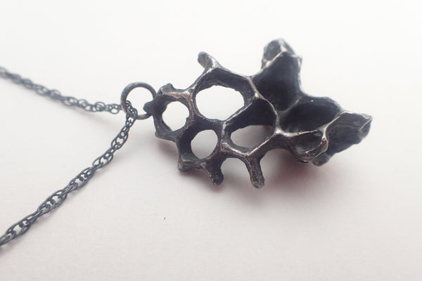 Wild Honeycomb Unique Silver necklace.-Jewellery-Beca Beeby