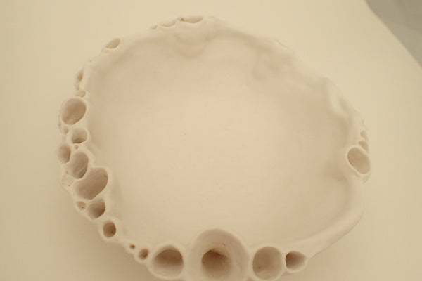 Porcelain Barnacle Bowl. Medium.-Ceramics-Beca Beeby