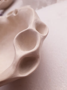 Porcelain Barnacle Bowl. Small-Ceramics-Beca Beeby