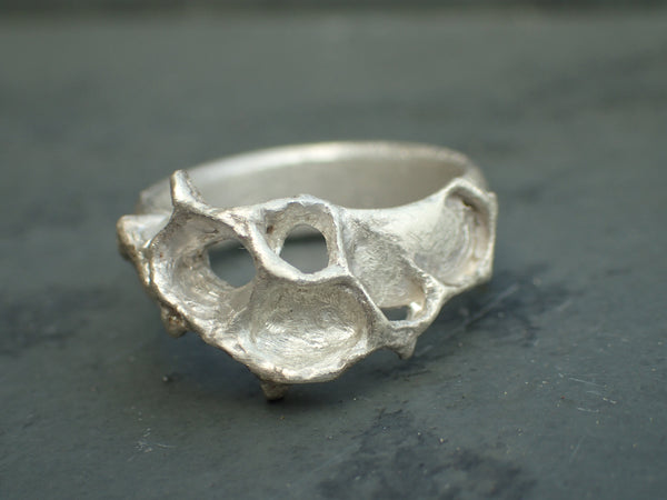 Wild Honeycomb Ring.-Jewellery-Beca Beeby