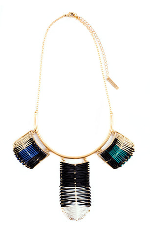 Belize Necklace Bondi Blue & Black