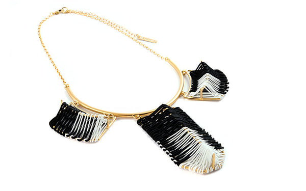 Belize Necklace Black & White