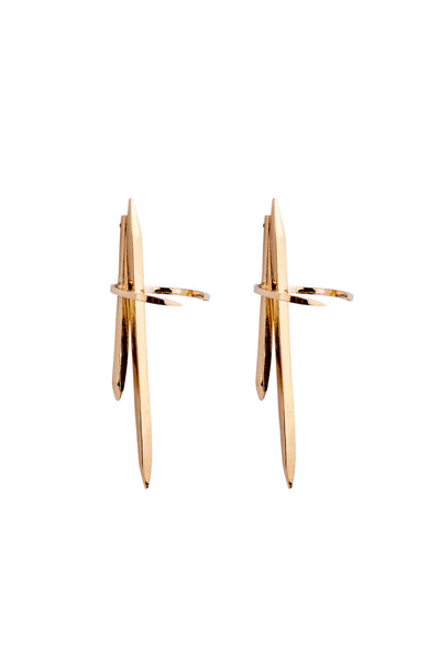 Delta Earrings Gold
