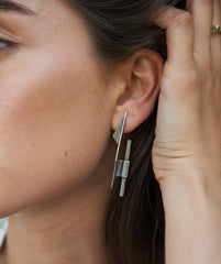 Tomer Earrings Silver