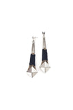 Gloria Earrings Silver & Black
