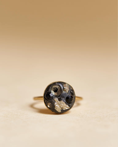 Pyrite Ring Gold