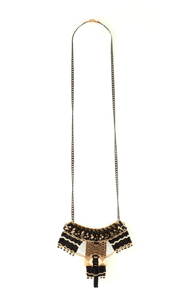 Long Hesus Necklace Black