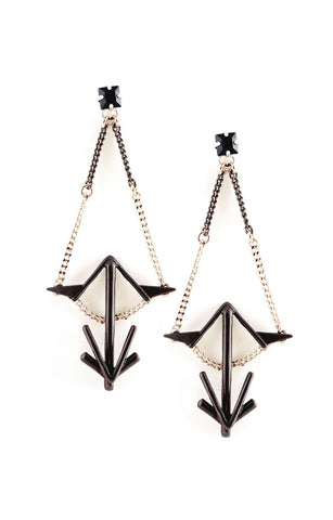 Leona Earrings Black