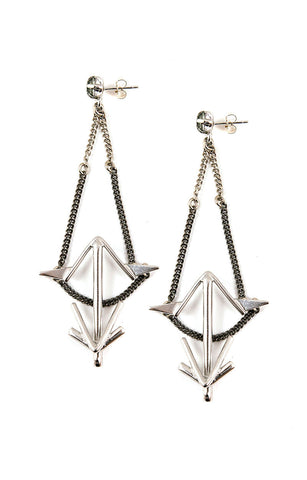 Leona Earrings Silver