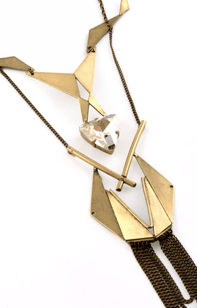 Cassandre Necklace Brass