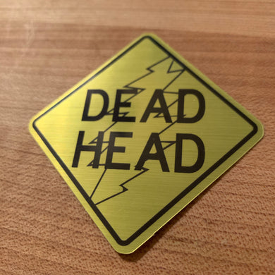 Dead Head Street Sign sticker