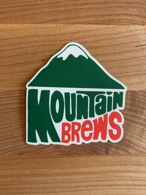 Mountain Brews 70's Dew Sticker